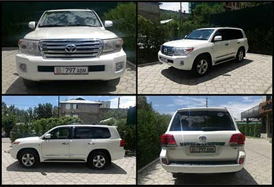 Rental car Toyota Land Cruiser 200